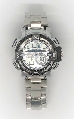 13898ba49ee Relógio Leisite Digital e Analógico Pulseira de Aço Reforçada Caixa de Aço  Produto Novo Q