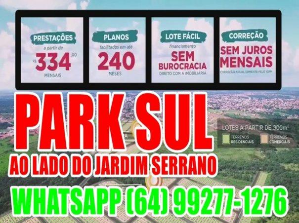 Jd.Park Sul Lotes Parcelados em Caldas Novas - Sítio a Venda no bairro Serrano -...