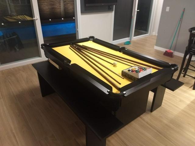 Mesa de Sinuca Tecido Amarelo Modelo MOV2029 - Foto 6