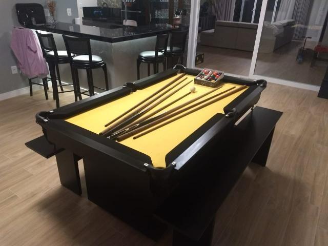 Mesa de Sinuca Tecido Amarelo Modelo MOV2029