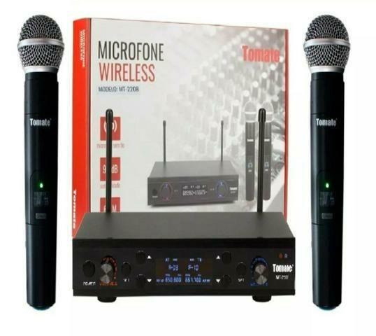 Microfone sem fio duplo digital Novo (Loja física)