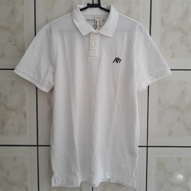 Camisa Polo Aeropostale A87 Branca Adulto Masculino Original Nova (Tamanho: G)