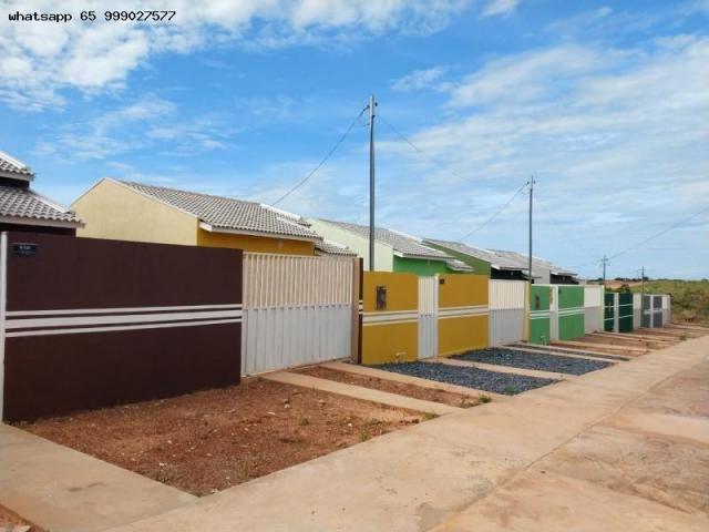Casa para Venda em Várzea Grande, Novo Mundo, 2 dormitórios, 1 banheiro, 2 vagas - Foto 2