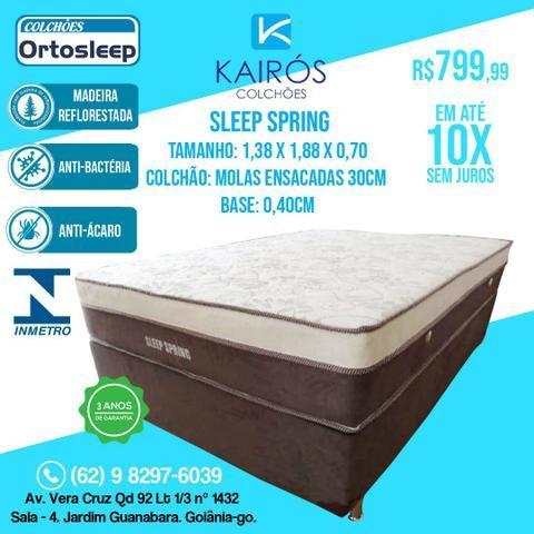 CONJUNTO Sleep SPRING: Colchão Molas Ensacadas 30CM ALTURA