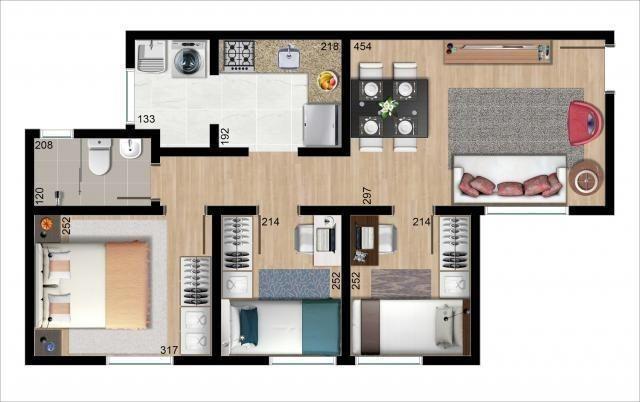 : Apartamentos Santa Cândida entrada parcelada excelente localização - Foto 7