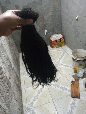 Vendo cabelo de 55 cm humano