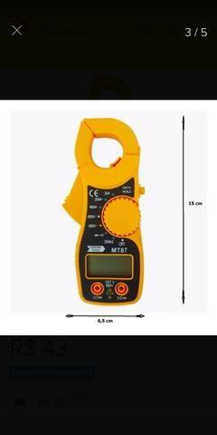 Mini Alicate Amperímetro Digital Aviso Sonoro Mt87 - Foto 2