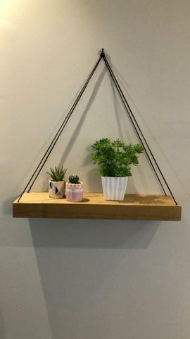2 prateleiras para plantas livros e fotos R$ 80,00 - Foto 3