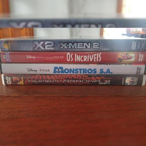 DVDs originais infantis e de ação