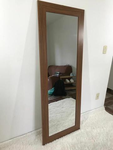 Espelho moldura de madeira 160x60
