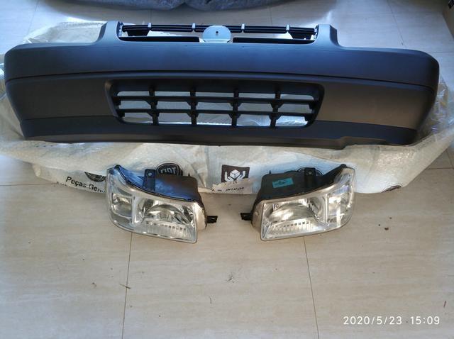 Para-choque mais faróis originais Fiat Uno Fiorino 2004 a 2013 - Foto 4