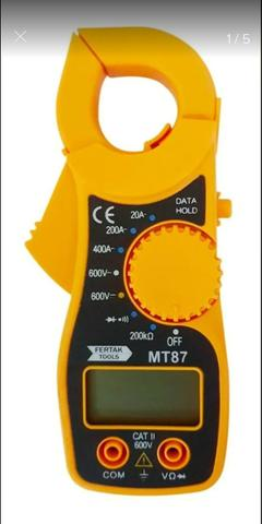 Mini Alicate Amperímetro Digital Aviso Sonoro Mt87