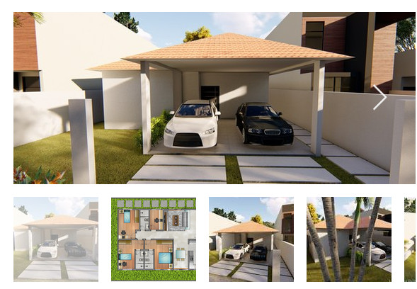 Projeto de casa térrea -3 quartos