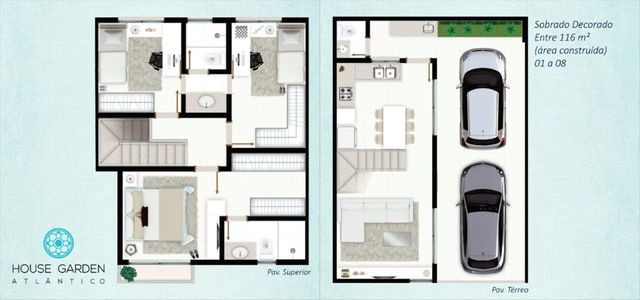 Lindo Sobrado 3/4 c 3 suites, Jardim Atlântico - Foto 9