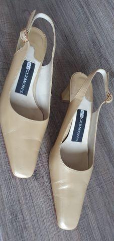 Sapato scarpin 35 bege couro - Foto 2