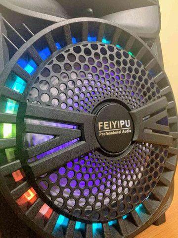 Caixa de Som 2000W Feiyipu Bluetooth Microfone e Controle! - Foto 4
