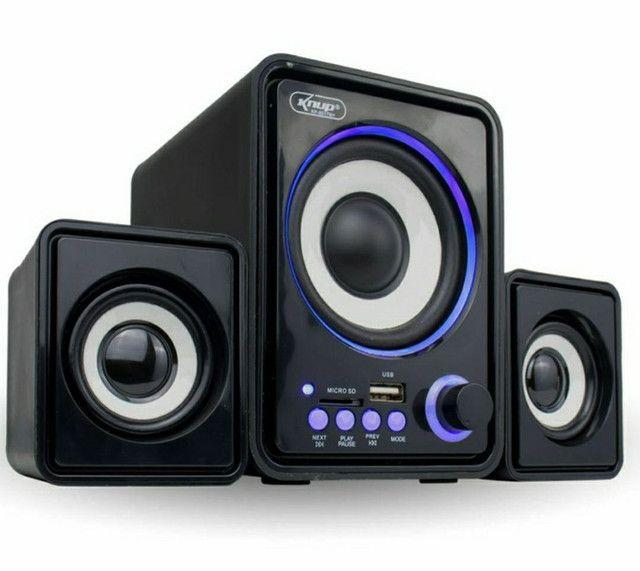 Caixa de Som Bluetooth Para PC Notebook 11W de Potência Soundbar Tv