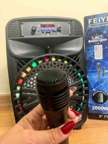 Caixa de Som 2000W Feiyipu Bluetooth Microfone e Controle! - Foto 3