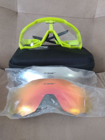 Kit óculos de pedal TSW com proteção UV 400 - Foto 3