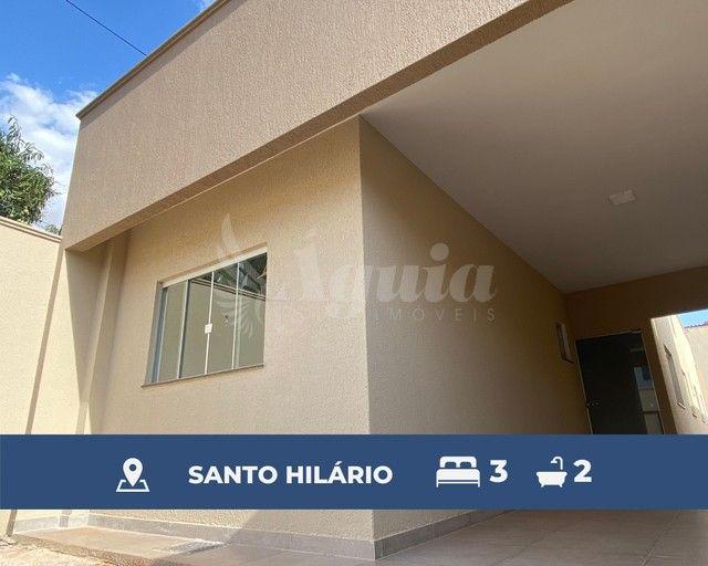 Casa térrea com 3 quartos e quintal no Setor Santo Hilário