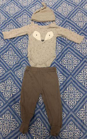 Lote Roupa Bebê Inverno Calça Manga Longa Carters CeA - Tamanho 3 a 6 meses - 6 peças - Foto 4