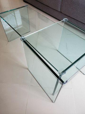 Mesa de Centro (todo de vidro) - Foto 4