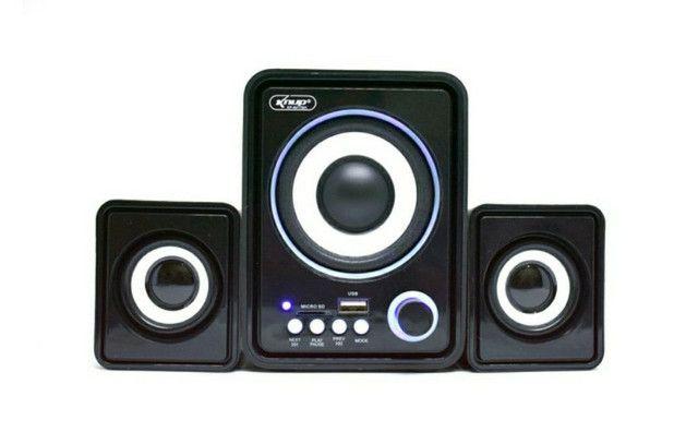 Caixa de Som Bluetooth Para PC Notebook 11W de Potência Soundbar Tv - Foto 2