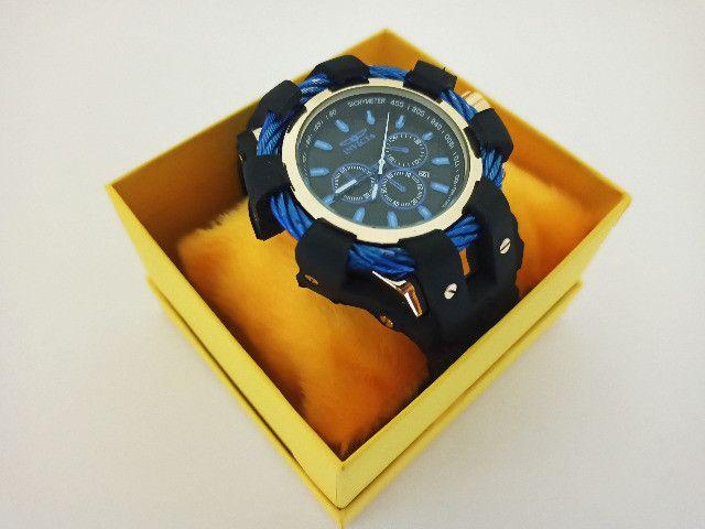 Relógio Masculino dourado pulseira ajustavel - Foto 3
