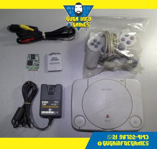Playstation 1 + Memory Card + Fonte + Cabo AV