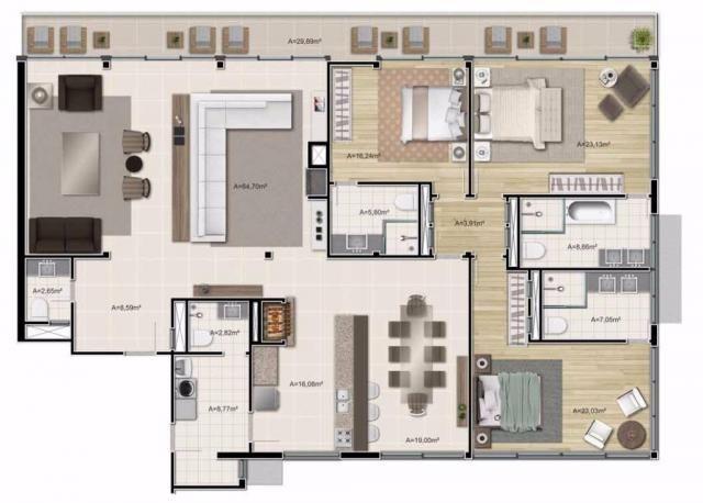 Apartamento com 3 dormitórios à venda, 313 m² por r$ 5.321.000,00 - gramado - gramado/rs - Foto 13