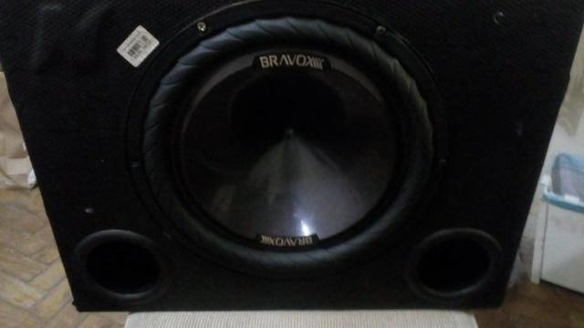 Caixa Dutada Palhetada 12 Sub Bravox P12x-d4 Bobina Dupla - Foto 2
