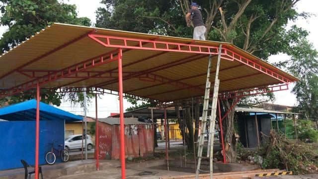 Policarbonato e telha galvanizada - Foto 2