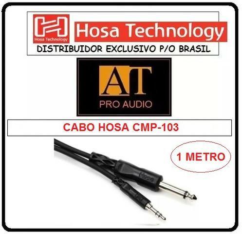 Cabo Adaptador P10 Mono x P2 Estéreo Hosa CMP103 ñ Neutrik Santo Angelo