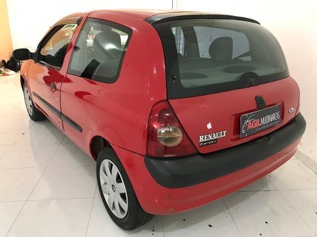 Renault Clio Authentique 1.0 Único dono 2004 Vermelho - Foto 5