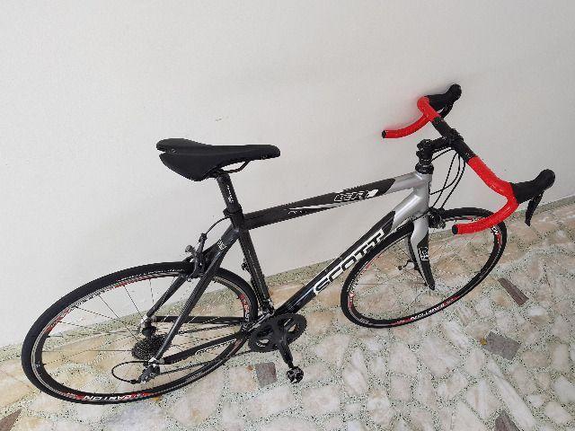 Bike Scott Speed Road Scott CR1 Pro Full Carbon tam 58 - perfeita - AC troca por mtb 29 - Foto 5