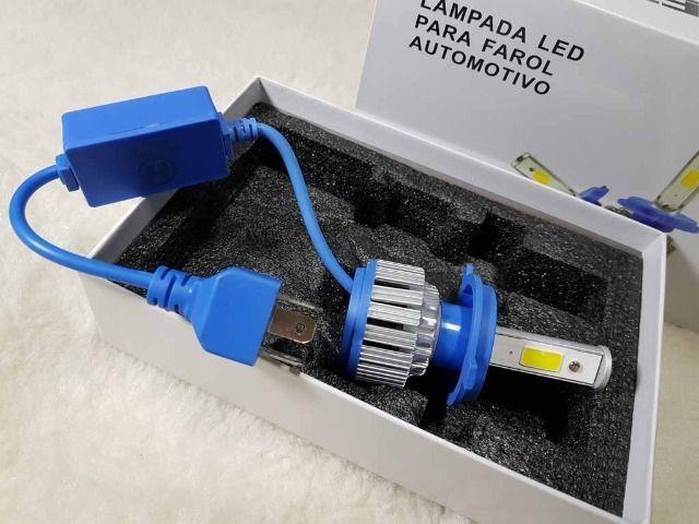 LED modelo H4 Super Brilho para o seu Farol - Novo modelo com Reator Externo - 1 PÇ