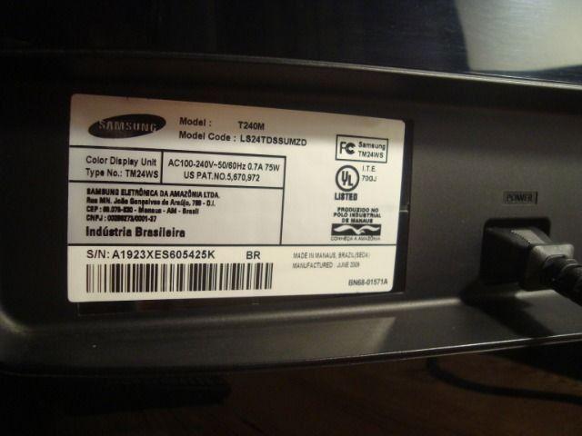 Monitor Samsung T240m Syncmaster Black Piano - Foto 6