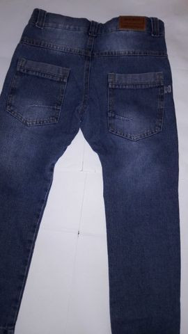 Calça Jeans Infantil Masculina Marca Mox - tam 6 semi nova excelente estado - Foto 4