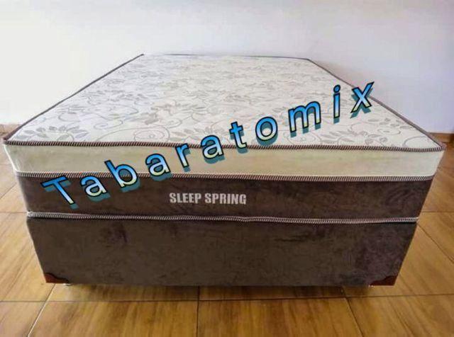 Durma Bem! Compre Já sua Cama Base + Colchão Sleeping Spring Molas - Foto 2