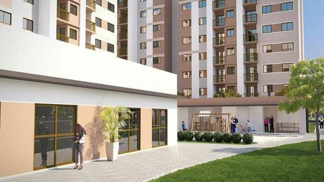 Apartamento sacada gourmet + elevador + entrada parcelada conheça o decorado - Foto 2