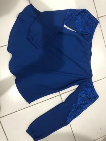 Blusa ciganinha manga longa - Foto 2