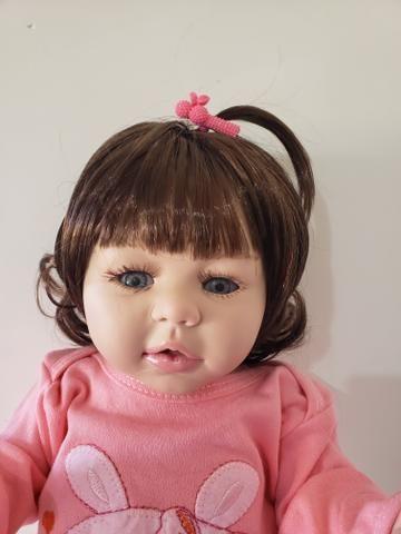 Boneca Bebê Reborn de Silicone 50cm - Foto 4
