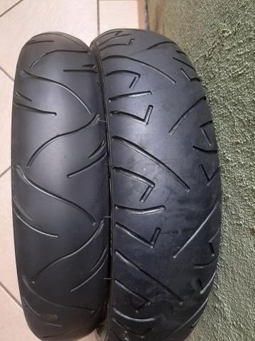 Vendo par de pneus cb300 twister ou fazer - Foto 2