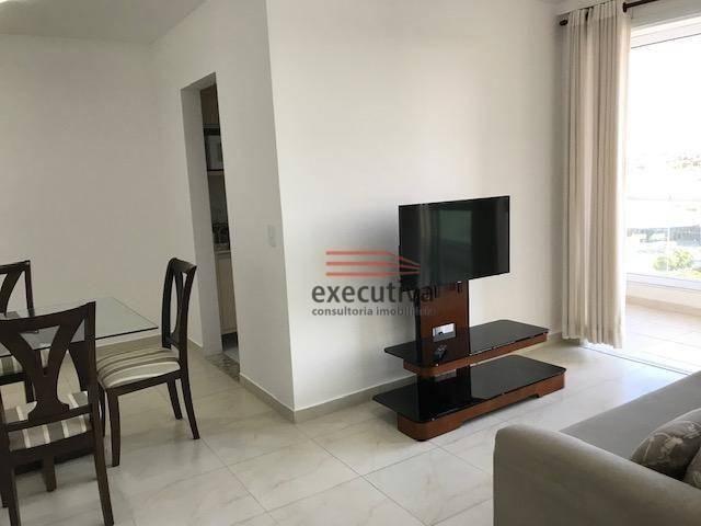 Apartamento com 1 dormitório para alugar, 57 m² por R$ 1.850,00/mês - Jardim das Colinas - - Foto 14
