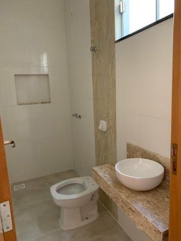 Casa nova 3 suítes plenas, sala com pé direito duplo, porcelanato, financia - Foto 12
