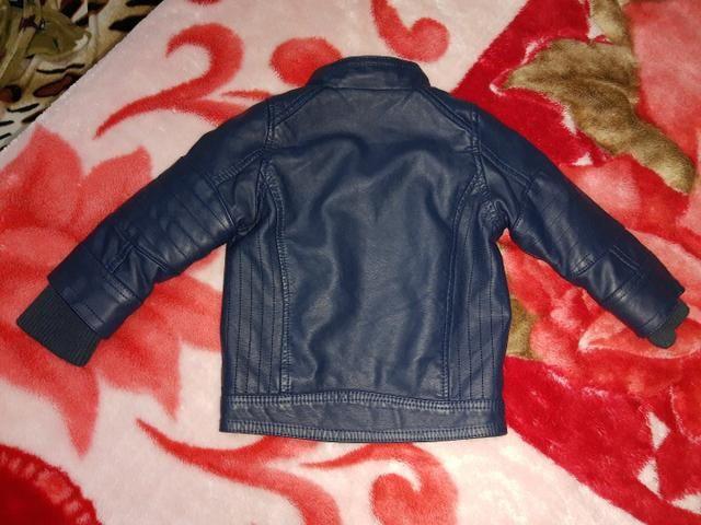 Jaqueta courino infantil azul marinho  - Foto 2