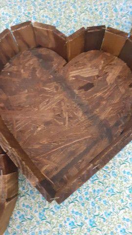 Coração em madeira - Foto 3
