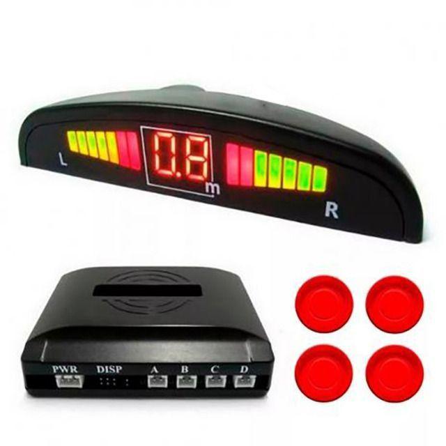 Sensor de estacionamento com 4 sensores reverso radar led e sonoro - Foto 3