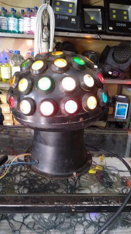 Iluminação para DJ usada retro, ler anuncio