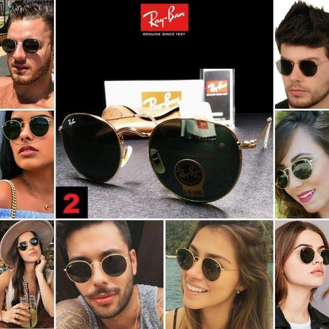 Óculos de Sol Rayban RB3447 Round com Proteção UV - Foto 2